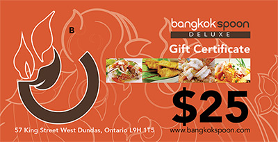 Bangkok Spoon Deluxe Gift Certificates Available